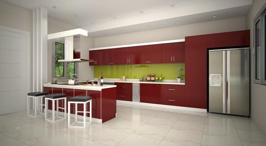 Tủ bếp đẹp kiểu hiện đại và sang trọng
