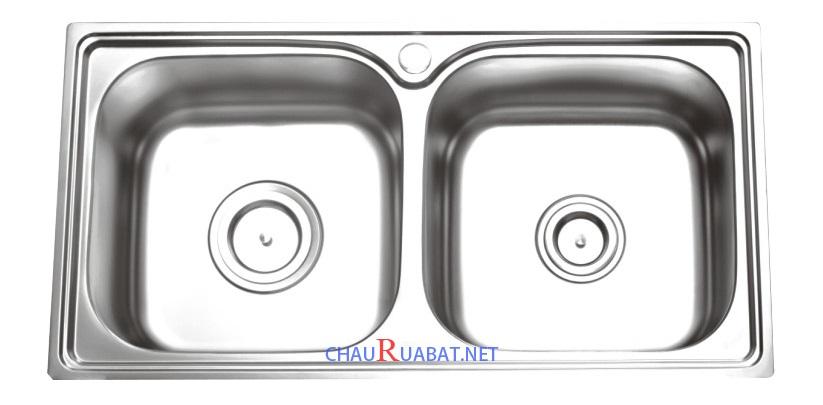 Bồn rửa chén Inox 2 ngăn
