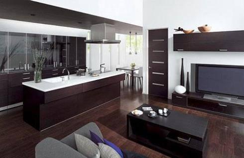 Cách gộp phòng bếp vào phòng khách